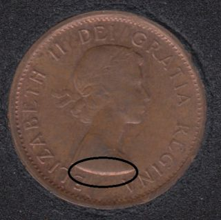 1963 - Break on Bust - Canada Cent