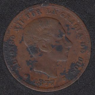 1877 - 5 Centimos - Espagne
