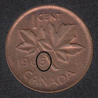 1965 - Double 5 - Canada Cent
