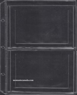 1 Sheet for Uni-Safe Binder 2-Pocket page to hold Mint Sets