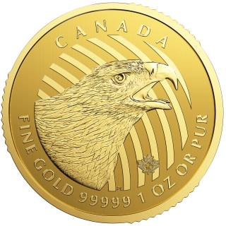 2018 - $200 - Golden Eagle 1oz Fine Gold 99999 - Call of the Wild Serie