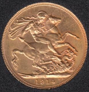 1914 Canada - Souverain en Or