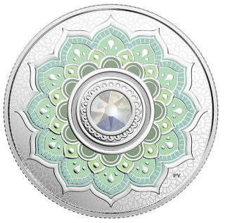 2018 - $5 - October Birthstone - Pure Silver Coin made with Swarovski® Crystal