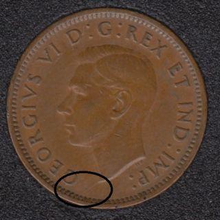 1941 - Break Bust to Rim - Canada Cent