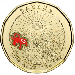 2021 - $1 - 125th Anniversary of the Klondike Gold Rush coloured
