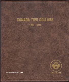 Uni-Safe Coin Album Canada 2 Dollars 1996-Date