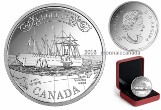 2016 - $1.00 - Proof Fine Silver Dollar – 150th Anniversary of the Transatlantic Cable