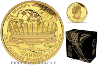 2015 - $75 - 1/4 oz. Pure Gold Coin - FIFA Women's World CupTM/MC : The Championship Game
