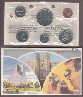 1982 BRILLIANT UNCIRCULATED SET