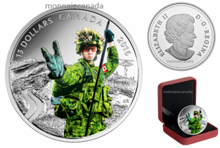 2016 - $15 - Pure Silver Coloured Coin – National Heroes: Military