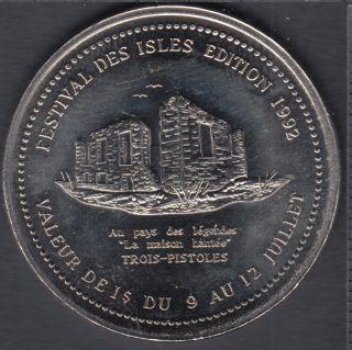 Trois-Pistoles - 1992 - Festival Des Isles - La Maison Hantée - $1 Dollar de Commerce