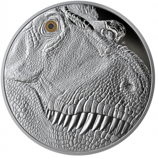 2018 - $250 - Pure Silver One Kilogram Coin - A Fierce Gaze: Tyrannosaurus Rex
