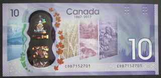 1867 2017 $10 Dollars UNC - Wilkins Poloz - Prefix CDB