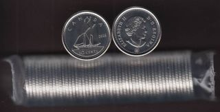 2015 Canada 10 Cents  - BU ROLL 50 Coins - UNC