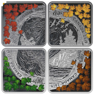 2019 - $3 - Pure Silver Coin Set - The Elements