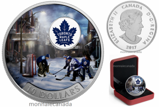 2017 - $10 - 1/2 oz. Pure Silver Coloured Coin – Passion to Play: Toronto Maple Leafs®
