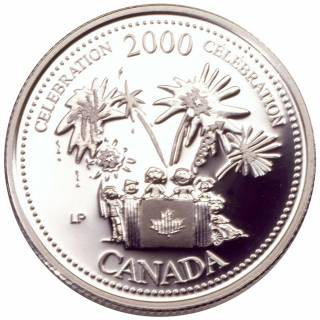 2000 - 25 Cents - Sterling Silver Proof - Celebration