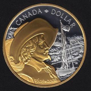 2008 - Proof - Argent - Plaqué Or - Canada Dollar