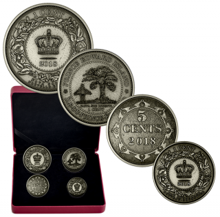 2018 - Pure Silver 4-Coin Set - Before Confederation: Colonial Currency of the Atlantic Provinces