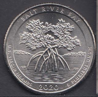 2020 P - B.Unc - Salt River Bay - 25 Cents