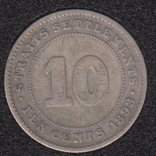 1893 - 10 Cents - Straits Settlements