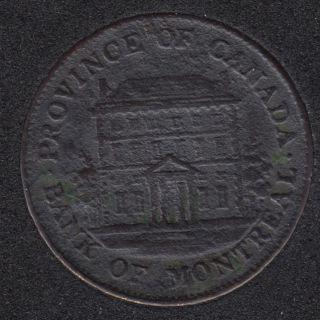 P.C. 1844 Half Penny Token Banf of Montreal View PC-1B3