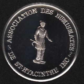 1977 - St. Hyacinthe - Fine Silver 999 -15e Exposition numismatique