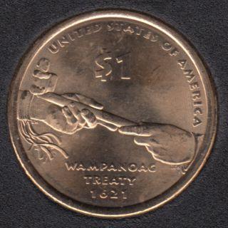 2011 D - Wampanoag Treaty - Native Dollar