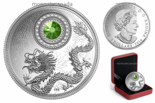 2016 - $5 - Fine Silver Coin made with Swarovski® Crystal - Birthstone - August