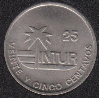1989 - 25 Centavos - Visiteur - Cuba
