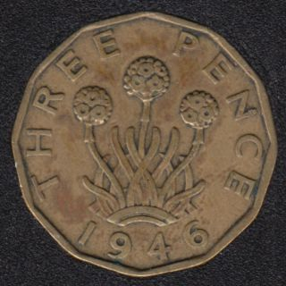 1946 - 3 Pence - Great Britain