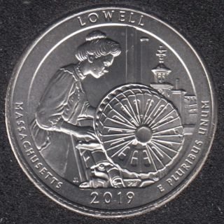 2019 P - Lowell - 25 Cents