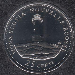 1992 - #9 NBU - Nouvelle Ecosse - Canada 25 Cents