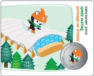 2010 - 50 Cents - Vancouver – Speed Skating Mascot Collector Card