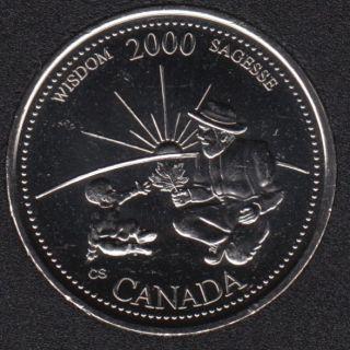 2000 - #9 B.Unc - Wisdom - Canada 25 Cents