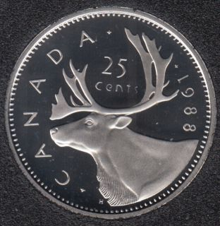 1988 - Proof - Canada 25 Cents