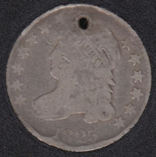 1825 - Capped Bust - Holed - 10 Cents