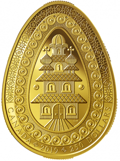 $250 - Pure Gold Coin - Eternal Blessing Pysanka