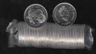 1999 Canada 25 Cents January - BU ROLL 40 Coins - UNC