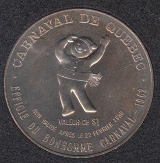 1980 Carnival of Quebec - Trade Dollar