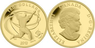 2013 - $150 - 1/2 oz Fine Gold Coin - Celebration Baseball