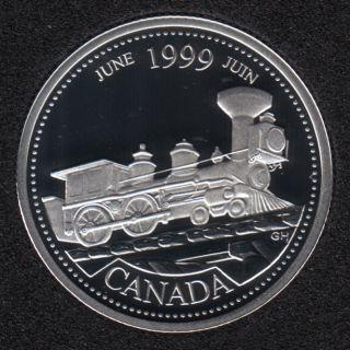 1999 - #6 Proof - Argent - Juin - Canada 25 Cents