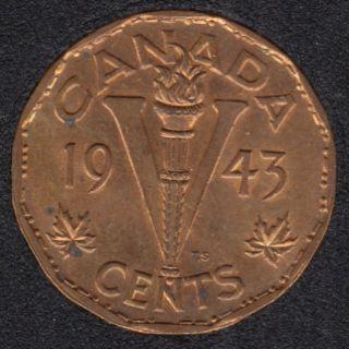 1943 - Tombac - B.Unc - Taché - Canada 5 Cents