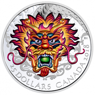 2018 - $25 - Dragon Boat Festival - Pure Silver Ultra-High Relief Coloured Coin
