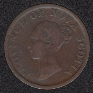 N.S. 1840 Victoria Half Penny Token - NS-1E2