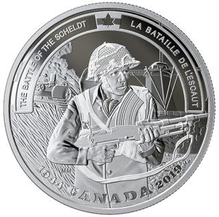 2019 - $20 -   1 oz. Pure Silver Coin - Second World War Battlefront: The Battle of the Scheldt