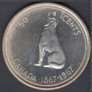 1967 - Proof Like - Stain - Canada 50 Cents
