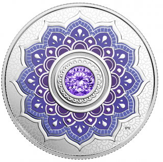2018 - $5 - December Birthstone - Pure Silver Coin made with Swarovski® Crystal