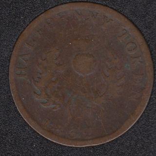 N.S. 1832 Half Penny Token - NS-1D3