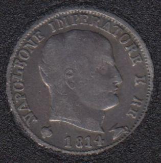 1814 M - 5 Soldi - Kingdom of Napoleon - Argent - Italie